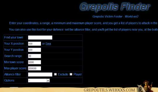 Grepolis Victim Finder